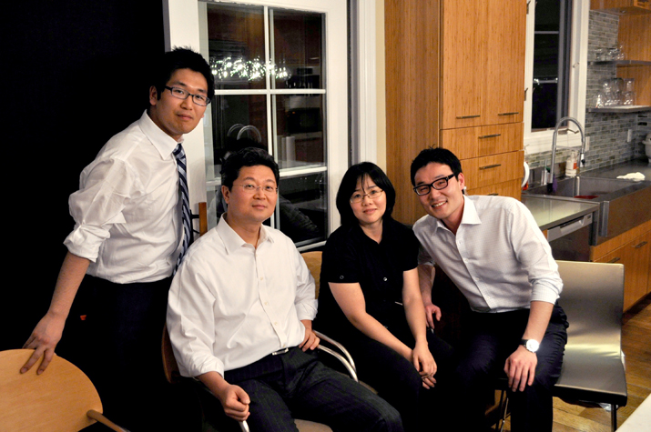 Charles Jeon and Stanley Baek, with BJ and Christine
